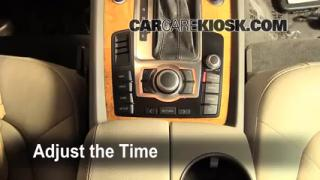 How to Set the Clock on a Audi Q7 (2007-2014)