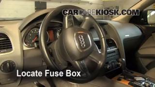 Interior Fuse Box Location: 2007-2014 Audi Q7
