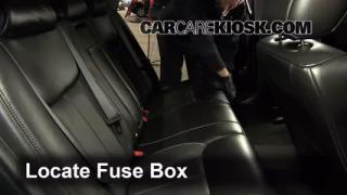 Interior Fuse Box Location: 2006-2011 Cadillac DTS