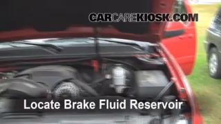 2007-2013 Chevrolet Avalanche Brake Fluid Level Check