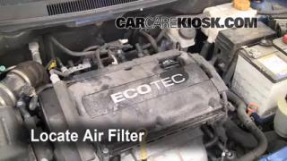 2004-2011 Chevrolet Aveo Engine Air Filter Check