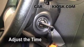 How to Set the Clock on a Chevrolet Aveo (2004-2011)