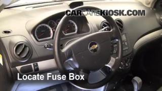 Interior Fuse Box Location: 2004-2011 Chevrolet Aveo