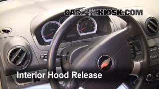 Open Hood How To 2004-2011 Chevrolet Aveo