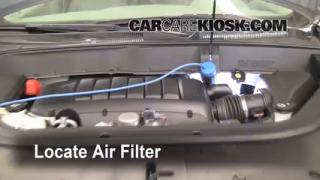 2009-2012 Chevrolet Traverse Engine Air Filter Check