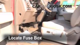 Interior Fuse Box Location: 2009-2013 Ford F-150