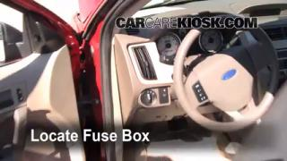 Interior Fuse Box Location: 2008-2011 Ford Focus
