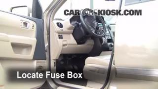 Interior Fuse Box Location: 2009-2013 Honda Pilot