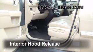 Open Hood How To 2009-2013 Honda Pilot