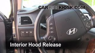 Open Hood How To 2009-2012 Hyundai Genesis