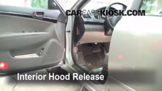 Open Hood How To 2006-2010 Hyundai Sonata