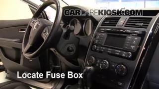 Interior Fuse Box Location: 2007-2014 Mazda CX-9