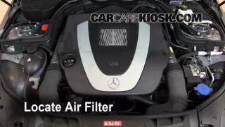 2008-2013 Mercedes-Benz C300 Engine Air Filter Check