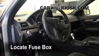 Interior Fuse Box Location: 2008-2013 Mercedes-Benz C300