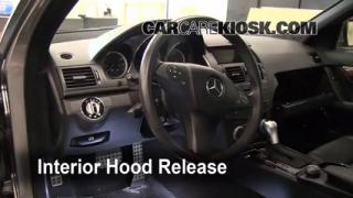 Open Hood How To 2008-2013 Mercedes-Benz C300