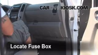 Interior Fuse Box Location: 2005-2014 Nissan Frontier