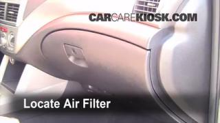 2009-2013 Subaru Forester Cabin Air Filter Check