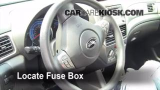 2009-2013 Subaru Forester Interior Fuse Check