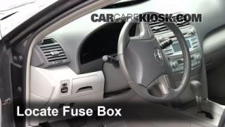 Interior Fuse Box Location: 2007-2011 Toyota Camry