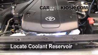 Coolant Level Check: 2005-2013 Tacoma