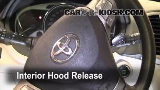 Open Hood How To 2009-2013 Toyota Venza