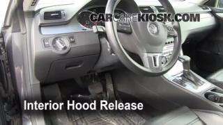 Open Hood How To 2009-2014 Volkswagen CC