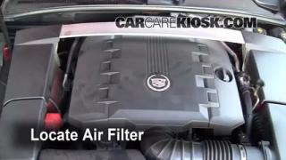 2008-2013 Cadillac CTS Engine Air Filter Check