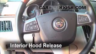Open Hood How To 2008-2013 Cadillac CTS