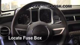 Interior Fuse Box Location: 2010-2013 Chevrolet Camaro
