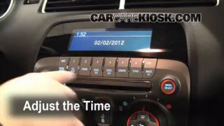 How to Set the Clock on a Chevrolet Camaro (2010-2013)