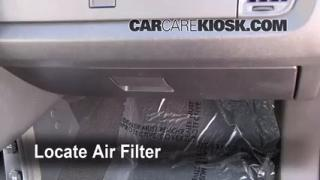 2009-2014 Dodge Journey Cabin Air Filter Check