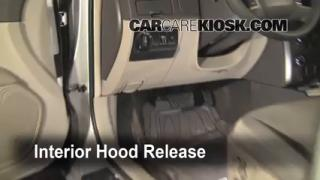 Open Hood How To 2010-2012 Ford Fusion