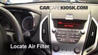 2010-2013 GMC Terrain Cabin Air Filter Check