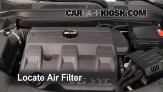 2010-2013 GMC Terrain Engine Air Filter Check