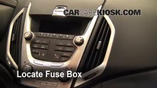Interior Fuse Box Location: 2010-2013 GMC Terrain