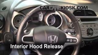 Open Hood How To 2009-2013 Honda Fit