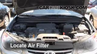 2007-2012 Hyundai Elantra Engine Air Filter Check