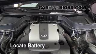 Battery Replacement: 2009-2012 Infiniti FX35