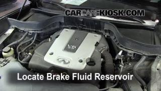 2009-2012 Infiniti FX35 Brake Fluid Level Check