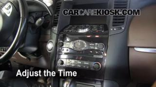 How to Set the Clock on a Infiniti FX35 (2009-2012)