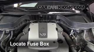 check windshield washer fluid infiniti fx35 2009 2012. Black Bedroom Furniture Sets. Home Design Ideas