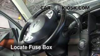 Interior Fuse Box Location: 2009-2012 Infiniti FX35