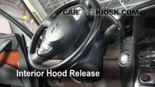 Open Hood How To 2009-2012 Infiniti FX35