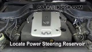 Check Power Steering Level Infiniti FX35 (2009-2012)