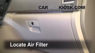 2006-2012 Kia Sedona Cabin Air Filter Check