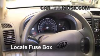 Interior Fuse Box Location: 2006-2014 Kia Sedona