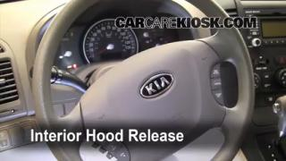 Open Hood How To 2006-2012 Kia Sedona