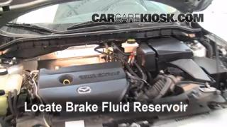 2010-2013 Mazda 3 Brake Fluid Level Check