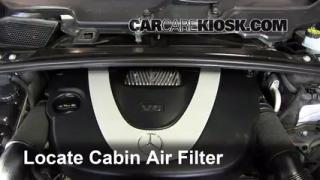 2006-2012 Mercedes-Benz R350 Cabin Air Filter Check