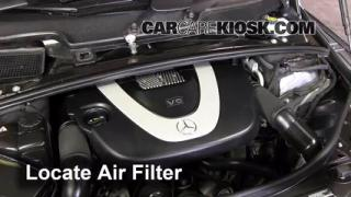 2006-2012 Mercedes-Benz R350 Engine Air Filter Check